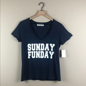 NWT Project Social T Sunday Funday V-Neck (S)